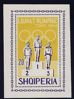 Albania    1964  18Th Olympic  Games  Souvenir Sheet   Mnh