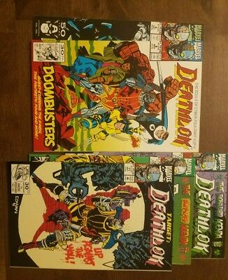 Deathlok #4, 5, 11, 12, & 14 Lot (1991, Marvel, 1st) VF/NM, FREE Bags and Boards