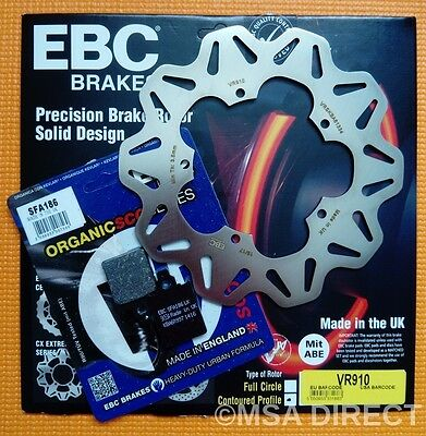 Vespa PX125 / PX150 / PX200 EBC FRONT Brake Disc and Kevlar Brake Brake Pads
