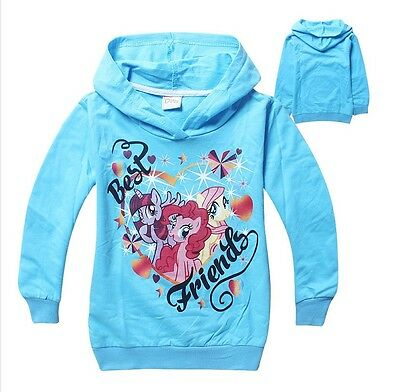 Boy Girl My Little Pony Jumper Hooded Hoodie Jumper Jacket Size 2-8 years Cotton