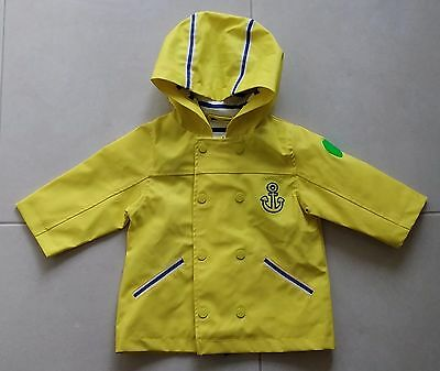 Baby's toddler's DPAM bright hooded yellow raincoat size 12 months boy girl