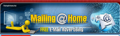Mailingathome Safelist - 50 Contact Solo Ads and Credits Offer - Advertising