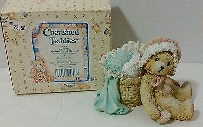 """1991 Jasmine """"You Have Touched My Heart"""" Cherished Teddies #950475"""