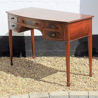 Victorian Style Reproduction Antique Mahogany Dressing Table Writing Desk