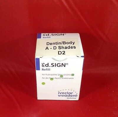 NEW Ivoclar IPS d.Sign Dentin/BodyA-D Shades D2-20g Porcelain Dental Lab Lot LA