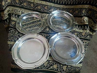 Vintage WM Rogers silver plates small bread and butter plates 988 Set of 4