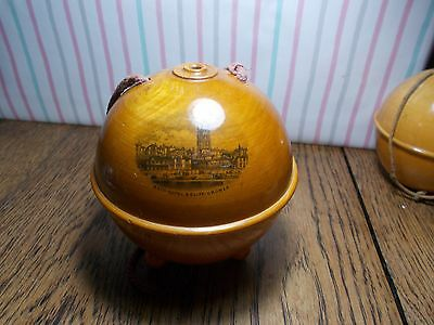 Antique Mauchline Ware Ball Wool Holder Cromer , Cromer By Sea, Bath Hotel Cliff