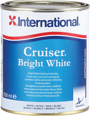International Cruiser Bright White 0,75lt Antifouling #458COL1200