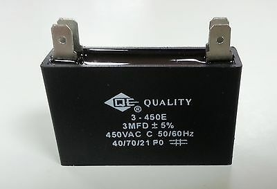 1 x 3uf 450V Capacitor  (3mfd 450V) AC & Fan Metallized 50/60HZ