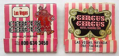 2 CIRCUS CIRCUS HOTEL CASINO SPA Finest on the strip Las Vegas Matchbook cover