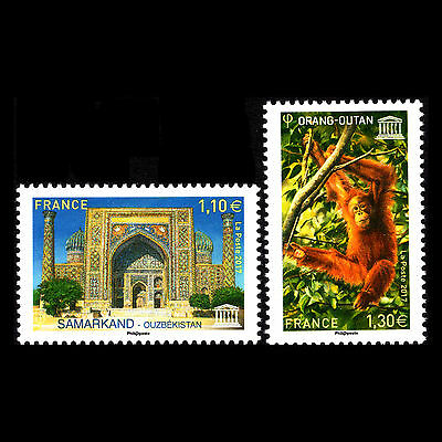 France 2017 - UNESCO World Heritage Fauna and Architecture - Sc 2o79/0 MNH