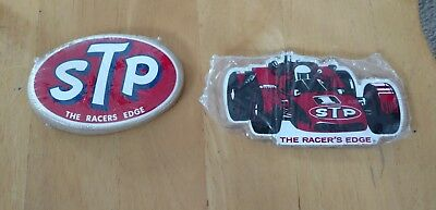 Vintage- Stp The Racer's Edge - 2 Sealed Packs Of Stickers Oval+ Indy Car Nos