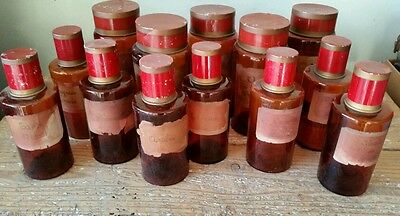 Collection | Set of (13) Antique French Apothecary Jars