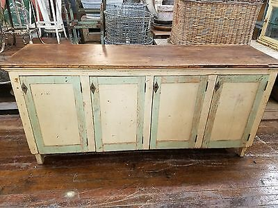 c.1900 French Farmhouse Serving Sideboard Buffet Original Paint