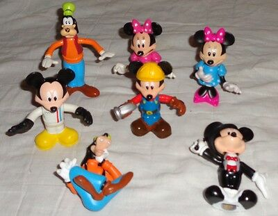 Disney Disneyland Figurines Cake Toppers Mickey Mouse Minnie Goofy Lot