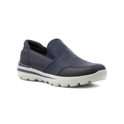 SPROX - Sprox Mens Navy Slip On Memory Foam Shoe - Sizes 40,41,42,43,44,45,46