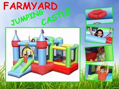 Farmyard Jumping Castle Happy Hop 9112