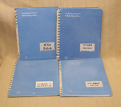 4 vintage tektronix 560 564 oscilloscope plug in manuals rm564 3a3 rh picclick com Tektronix Oscilloscope Tektronix Frequency Counter