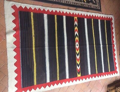 "1890-1900 navajo transitional rug ""the floating moki "".moqui Is Early Dine Style"