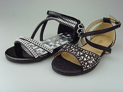 New Youth Kid's Girl's Rhinestones Party Pageant Sandals Dress Shoes Size:9-4