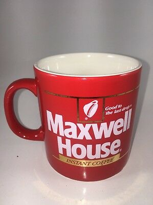 Maxwell House Instant Coffee Cup Mug Red Made In England Good To The Last Drop
