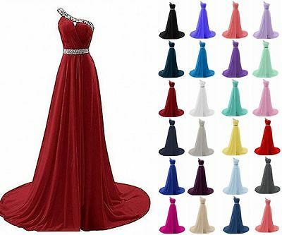 2018 New Long Chiffon Prom Dress Bridesmaid Evening Formal Party Gown Stock 6-22