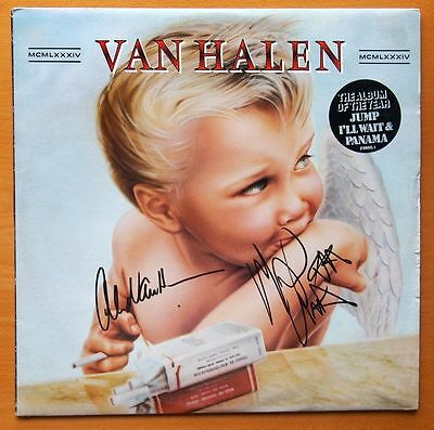 """Van Halen """" Mcmlxxxiv"""" Personally Signed Lp By 2 With Coa"""