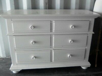 ivory painted antique dresser