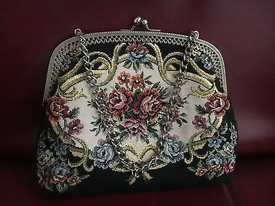 Mint! Rare 1940'S Tapestry Evening Bag!