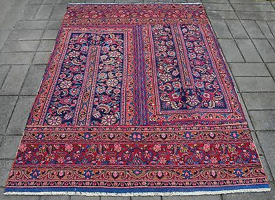 Persian Hand Knotted Vintage Patchwork Rug ( 245 x 180 CM ) Afghan Oriental Rugs