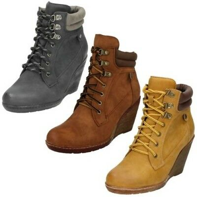 Ladies Spot On Wedge Heel Ankle Boots