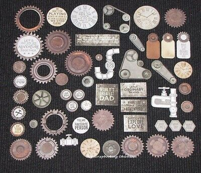 Kaisercraft 'FACTORY 42' Collectables Die Cut Shapes Steampunk/Cogs/Men KAISER
