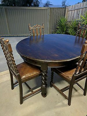 Jacobean antique table and chairs