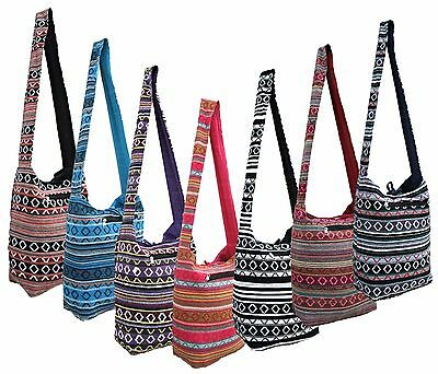 Cotton Cross Body Boho Hippy Beach Sling Bag Hippie Handbag Shoulder Festival