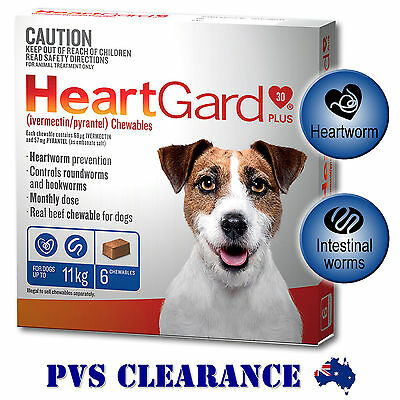 Heartgard Plus Blue 6 for Dogs - 6 Chews - Up to 11kg - Heartguard 6 Pack