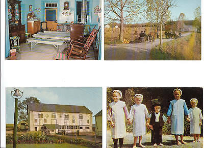 p128 | 7 unused Amish postcards, probably 1960s, Pennsylvania -- REDUCED