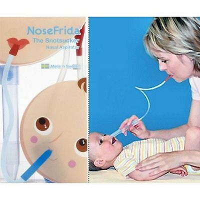 FridaBaby NoseFrida Snotsucker Saline Kit Removes Baby Boogers NEW Free Ship!