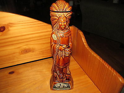 Vintage 1968 Ezra Brooks Native American Indian Chief Decanter