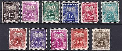 Andorra   1943 - 46    Postage Due Set      Mnh