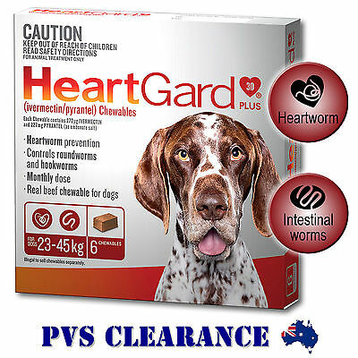 Heartgard Plus Brown 6 for Dogs - 6 Chews - 23 to 45kg - Heartguard 6 Pack