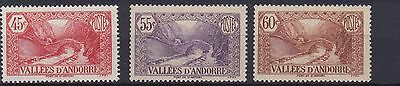 Andorra  1932 - 43  S G  F36 + F41 + F42  Various Values To 60C   Mh Cat £60