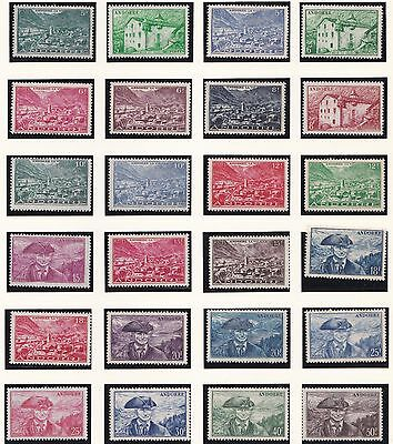 Andorra  1944 - 51    S G  F105 - F142  Set  Of 38  Mnh   Cat £200