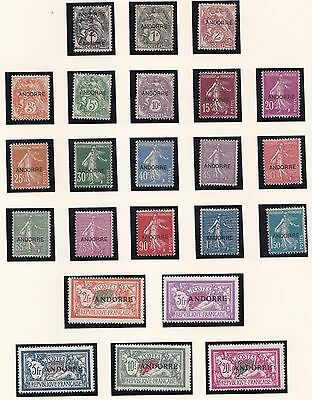 Andorra  1931  S G  F1 - F23   Super Set Complete To 20F Lmh Cat £1800