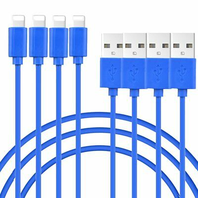 4-Pack New USB Data Sync Cord Charger Cable for Apple iPhone 5 6 S 7 Plus