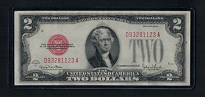 Old USA America banknote 1928 2 Dollars Banknote Red Bill