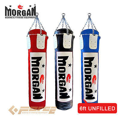 MORGAN 6 ft/180cm Muay Thai/Boxing UNFILLED MMA UFC Heavy Punch Bag 3 color