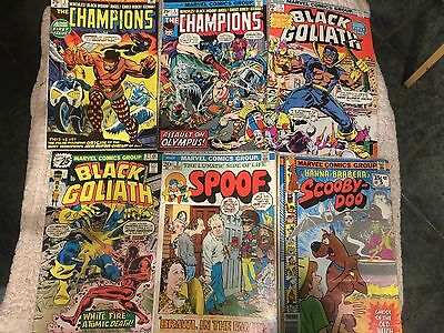 Black Goliath #1 #2 Champions #1 #3 Spoof #2 Scooby Doo #5 lot of 6 • $15.50