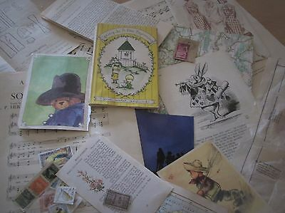 Vintage PAPER Bundles - mixed selection 30 pieces paper/card vintage ephemera