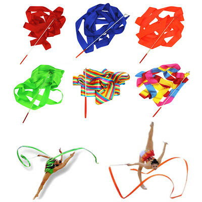 Hot Dancing Ribbons Professional Gym Rhythmic Dance Props Antiskid Twirling Rod
