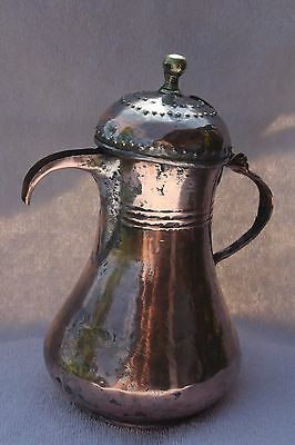 282 grams Very Antique ISLAMIC Ottoman COFFEE POT DALLAH Middle East